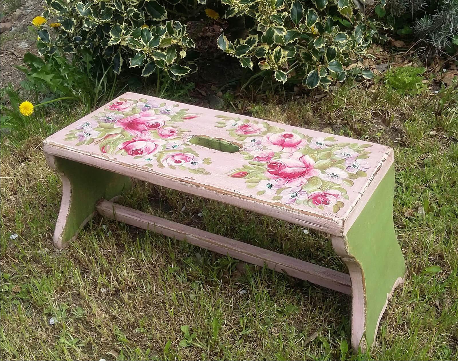 Malovaný topánek - stolička 3