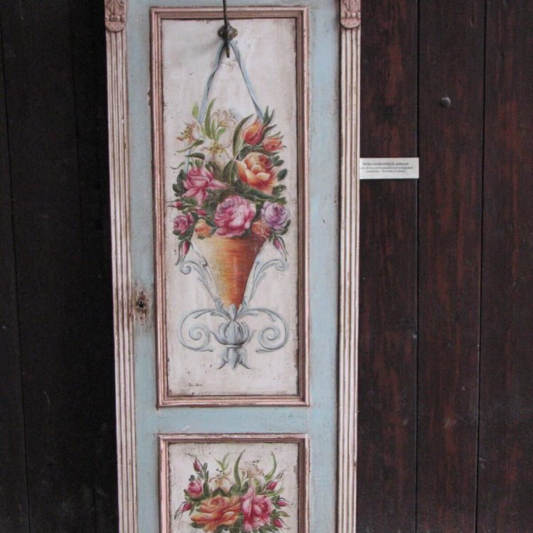 Malovaný věšák - Něha rozkvetlých zahrad 2