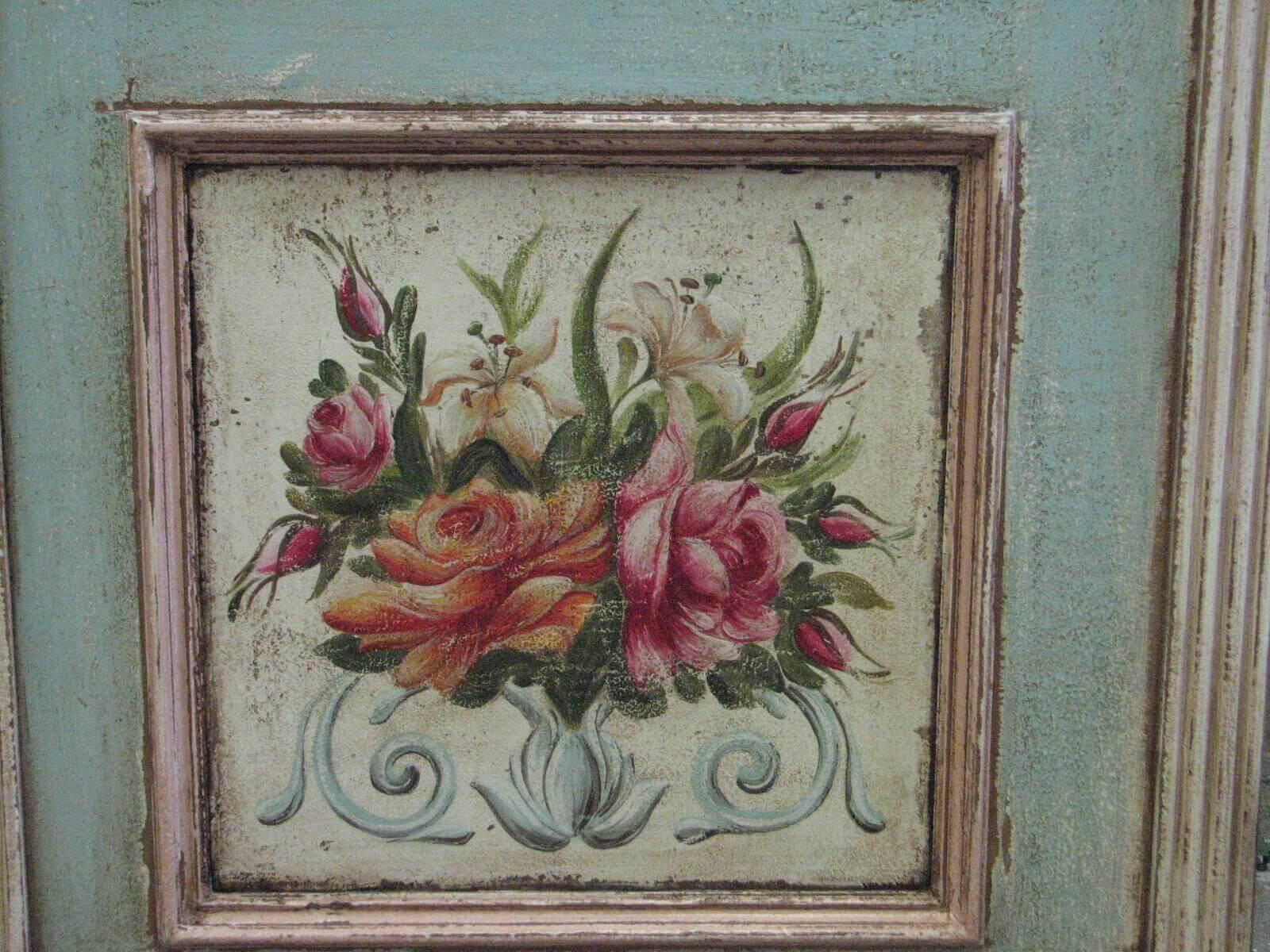Malovaný věšák - Něha rozkvetlých zahrad 3